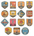 basketball sport icons referee and players vector image vector image
