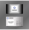 black and white stack square business card vector image