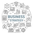 business strategy linear slide for vector image vector image