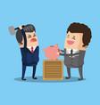 business teamwork with savings vector image vector image