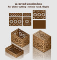 carved wooden box for plotter cutting - remove 1 vector image