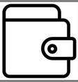 cash money online payment wallet icon vector image vector image