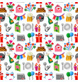 celebrations seamless pattern vector image vector image