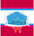 Christmas night in the village card vector image vector image