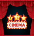 cinema entertainment elements icon vector image