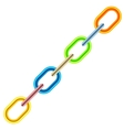Colorful Metal Chain vector image