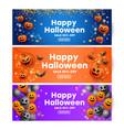 creative set banners for halloween celebration vector image