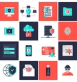 Data Protection Flat Icons Set vector image vector image