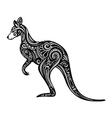 Decorative Kangaroo vector image