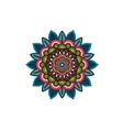 Decorative tribal mandala ornament rosette vector image