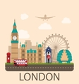 Design Poster for Travel of England vector image vector image