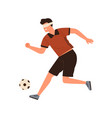 disabled athlete blind male soccer running vector image vector image