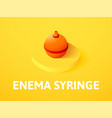 enema syringe isometric icon isolated on color vector image vector image