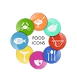food and drink set vector image vector image