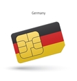 Germany mobile phone sim card with flag vector image
