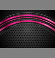 glossy waves on dark perforated metallic vector image vector image