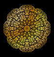golden mandala circle pattern vector image