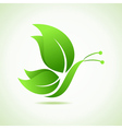 Green decorative butterfly vector image