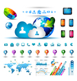 Infographic elements for cloud computing vector image