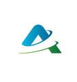 letter a logo slice logo design concept template vector image vector image