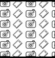line digital camera and smartphone technology vector image vector image