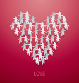 Loveheartpeoplegroup vector image vector image