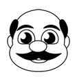 man face bald character vector image