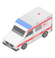 medical ambulance icon isometric style vector image vector image