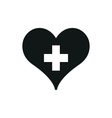 medicine heart on white vector image