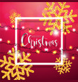 merry christmas with shiny gold vector image vector image