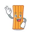 okay air mattress character cartoon vector image