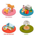 pet shop 2x2 design concept vector image
