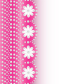 pink background with flowers of pearls a vector image vector image