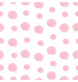 pink hand drawn watercolor polka dot seamless vector image vector image