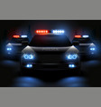 police light bar composition vector image vector image