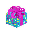 present with posh bow pattern vector image vector image