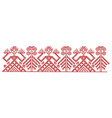 red finnish ornament design elements vector image vector image