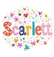 Scarlett female name decorative lettering type vector image vector image