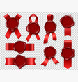 seal candle stamp red ribbons with original vector image vector image