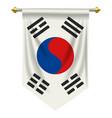 south korea pennant vector image