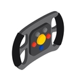 Steering wheel isometric 3d icon vector image