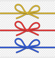 string bow isolated vector image vector image