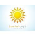 summer logo label summer icon vector image