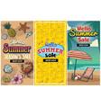 summer sale retro flyer set vector image vector image