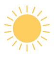 sun icon simple minimal 96x96 pictogram vector image vector image