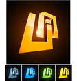 UA vibrant emblems vector image vector image