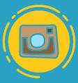 unusual look web icon of modern lineart camera vector image vector image