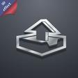 Upload icon symbol 3D style Trendy modern design vector image