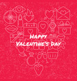 valentine day concept banner with love icons vector image