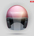vintage motorcycle helmet with visor vector image